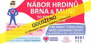 Brno & MUNI   nábor dárců kostní dřeně